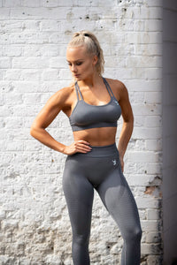 V3 Apparel - Contour Seamless Sports Bra - Grey - Beispiel 1