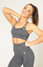 V3 Apparel - Contour Seamless Sports Bra - Grey - Vorderseite 1