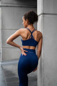 V3 Apparel - Contour Seamless Sports Bra - Navy Blue - Details 1