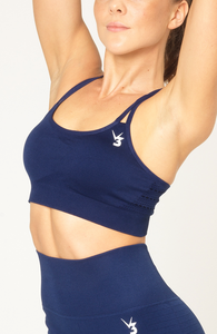 V3 Apparel - Contour Seamless Sports Bra - Navy Blue - Seitlich