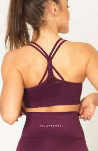 Contour Seamless Sports Bra - Wine Red - Rückseite