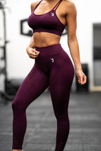 V3 Apparel - Contour Seamless Leggings - Wine Red - Beispiel 1