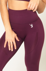 V3 Apparel - Contour Seamless Leggings - Wine Red - Detail 2