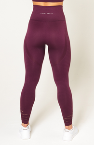 V3 Apparel - Contour Seamless Leggings - Wine Red - Rückseite