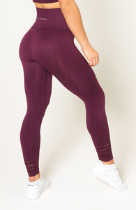 V3 Apparel - Contour Seamless Leggings - Wine Red - Seitlich 1