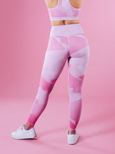 Workout Empire - Camo Shape Leggings - Pink Camo - Rückseite