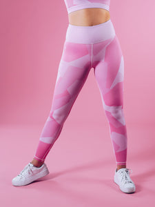 Workout Empire - Camo Shape Leggings - Pink Camo - Vorderseite