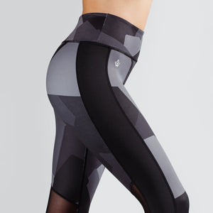 Workout Empire - Camo Tights - Obsidian - Seitlich Detail