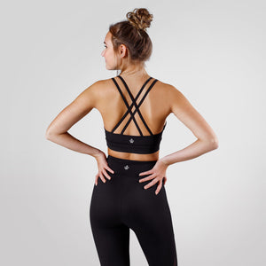 Workout Empire - Core Strappy Bra - Obsidian - Rückseite