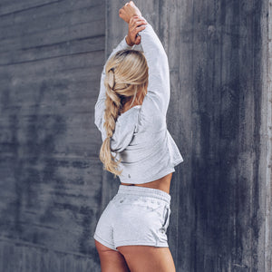 Workout Empire - Core Sweatshorts - Light Grey - Beispiel