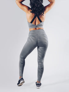 Workout Empire - Elevate Leggings - Silver - Rückseite
