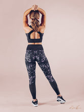 Workout Empire - Floral Leggings - Obsidian - Rückseite Gesamt