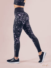 Workout Empire - Floral Leggings - Obsidian - Seitlich