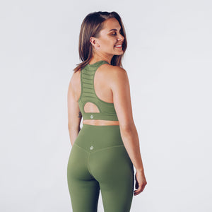 Workout Empire - Regalia Curve Bra 2.0 - Forest - Rückseite