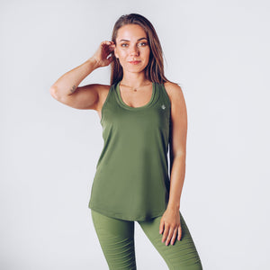 Workout Empire - Regalia Curve Tank 2.0 - Forest - Vorderseite