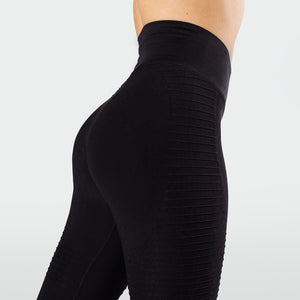 Workout Empire - Regalia Flow Leggings - Obsidian - Rückseite Detail