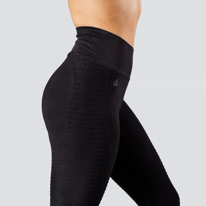 Workout Empire - Regalia Flow Leggings - Obsidian - Seitlich Detail