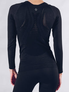 Workout Empire - Sculpt Longsleeve - Obsidian - Rückseite Detail