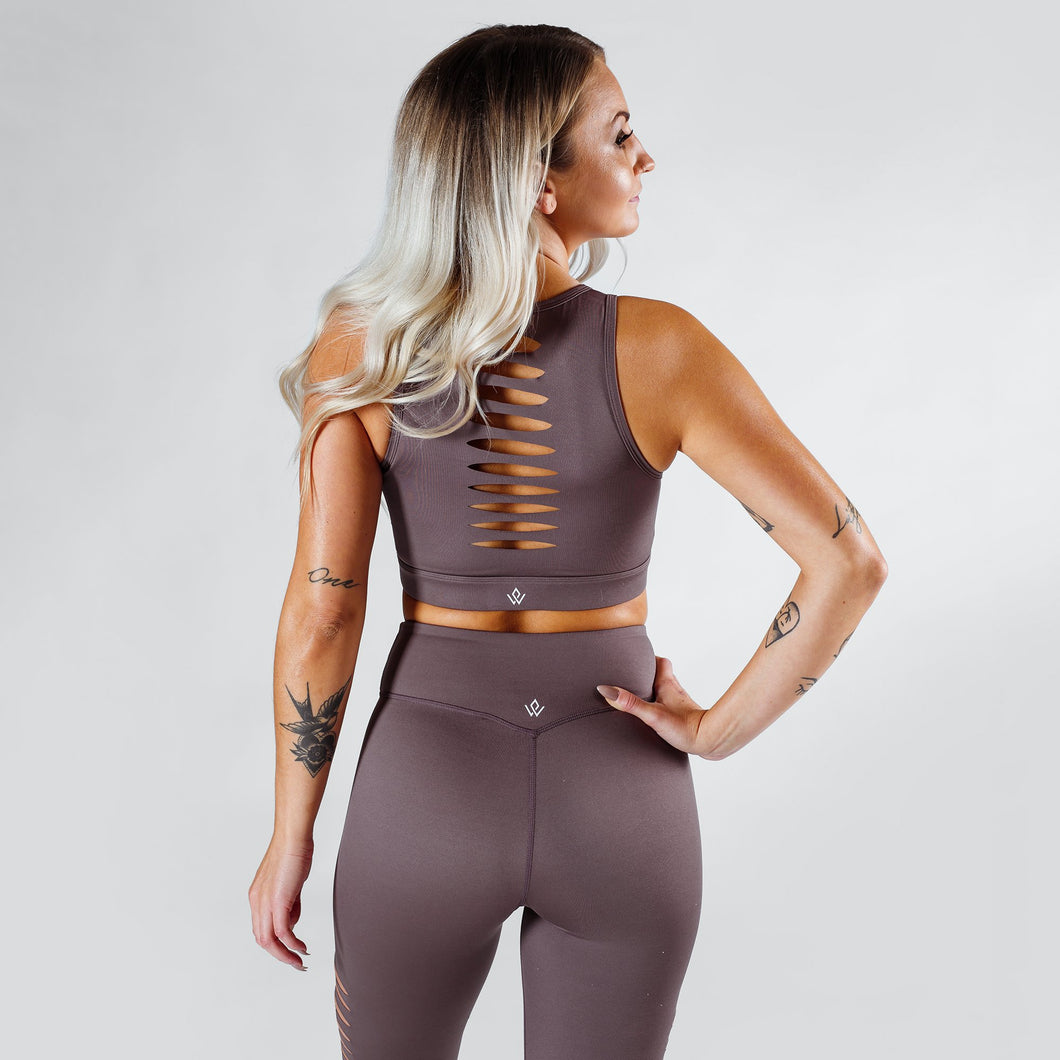 Workout Empire - Slay Bra - Gun Metal - Rückseite