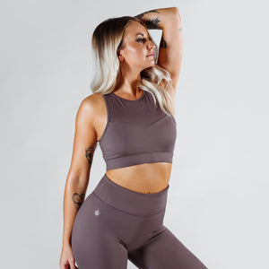 Workout Empire - Slay Bra - Gun Metal - Vorderseite