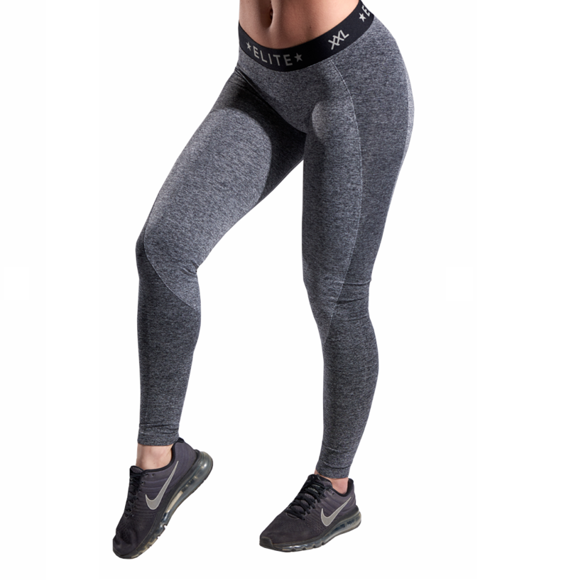 XXL Nutrition - Leggings Seamless - Grey / Black - Vorderseite