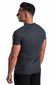XXL Nutrition - Stretch Shirt - Dark Grey - Rückseite