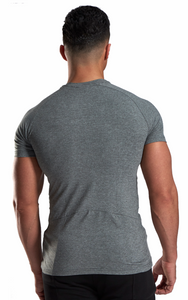 XXL Nutrition - Stretch Shirt - Grey - Rückseite
