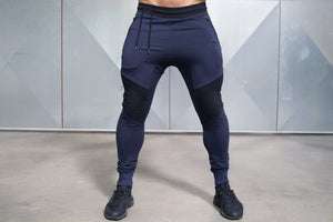 Body Engineers - X NEO Joggers - Navy Blue - Front