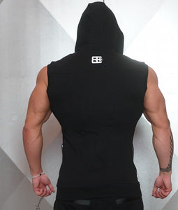 Body Engineers - YUREI Sleeveless Vest – All Black - Rückseite