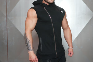 Body Engineers - YUREI Sleeveless Vest – All Black - Seitlich