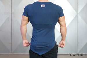 Body Engineers - YUREI Asymmetric V-Neck - Navy Blue - Rückseite
