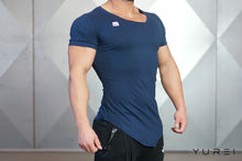 Body Engineers - YUREI Asymmetric V-Neck - Navy Blue - Seitlich