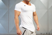 Body Engineers - YUREI X Prometheus 2.0 – Asymmetric V-Neck WHITE OUT - Seitlich