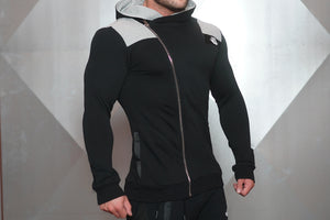 Body Engineers - YUREI Vest – Black & Light Grey Accents - Seitlich