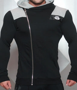 Body Engineers - YUREI Vest – Black & Light Grey Accents - Vorderseite