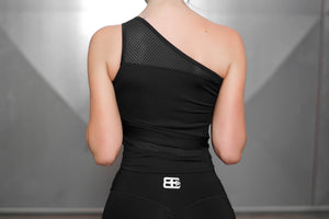 Body Engineers - CHIONE Crop Top – Black Pearl - Rückseite