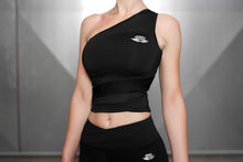 Body Engineers - CHIONE Crop Top – Black Pearl - Seitlich