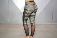 Body Engineers - ATHENA Camo Leggings – Olive Green & Black - Rückseite