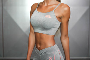 Body Engineers - ATHENA Comfort Crop Top – Grey Melange - Seitlich