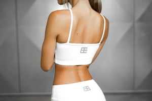 Body Engineers - ATHENA Comfort Crop Top – White Ivory - Rückseite