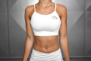 Body Engineers - ATHENA Comfort Crop Top – White Ivory - Vorderseite
