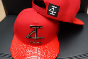 4Invictus - 4I Snapback Cap – Red Gun Metal - Detail