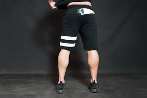 4Invictus - KENTO Shorts – Black & Light Grey - Rückseite
