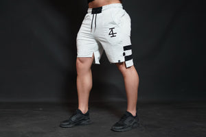 4Invictus - KENTO Shorts – Light Grey & Black - Seitlich