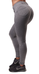 XXL Nutrition - Leggings Tight - Grey - Rückseite