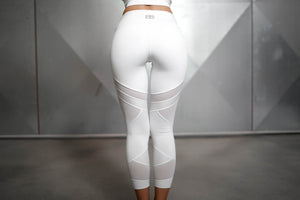 Body Engineers - CHIONE 7/8 Legging – White Ivory - Rückseite
