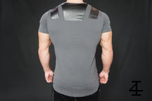 4Invictus - Gun Metal Shirt – Anthracite - Rückseite