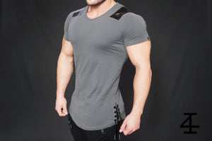 4Invictus - Gun Metal Shirt – Anthracite - Seitlich