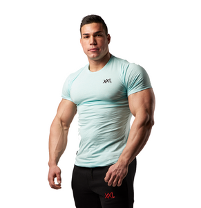 XXL Nutrition - Stretch Shirt - Turquoise - Gesamt