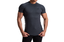 XXL Nutrition - Stretch Shirt - Dark Grey - Vorderseite Detail